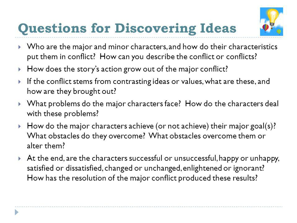 Questions for Discovering Ideas