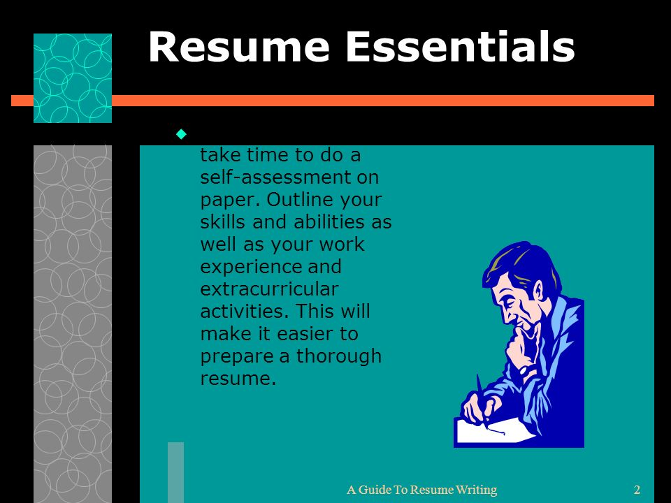 Writing The Effective Resume Curriculum Vitae CVppt download