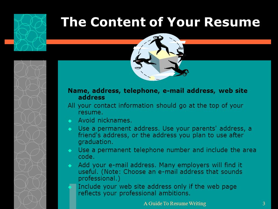 The Content of Your Resume