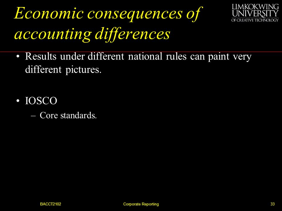 Economic consequences of accounting differences
