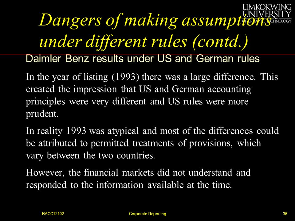 Dangers of making assumptions under different rules (contd.)