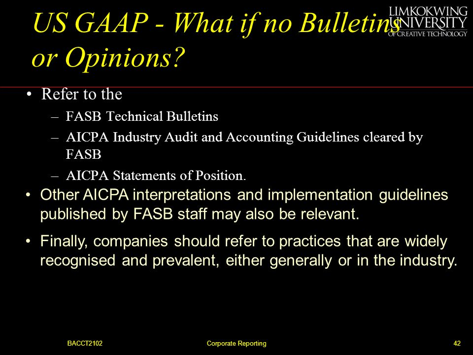 US GAAP - What if no Bulletins or Opinions