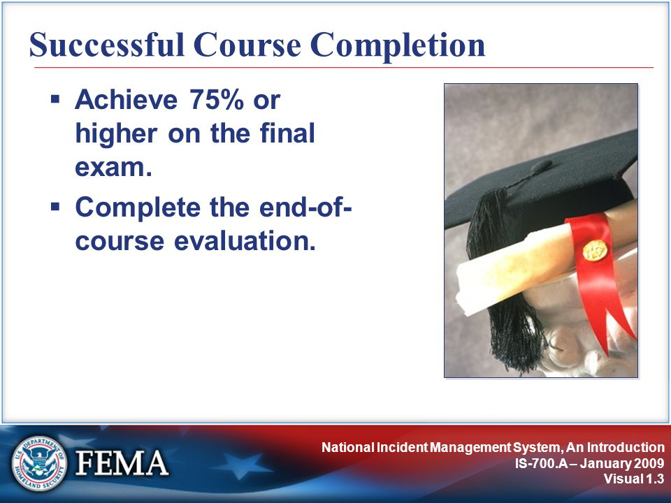 Successful Course Completion