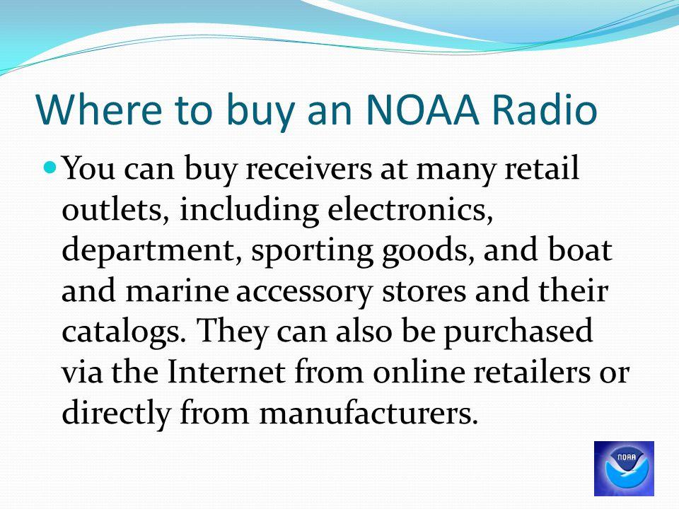 Where to buy an NOAA Radio