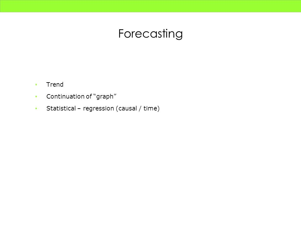 Forecasting Trend Continuation of graph