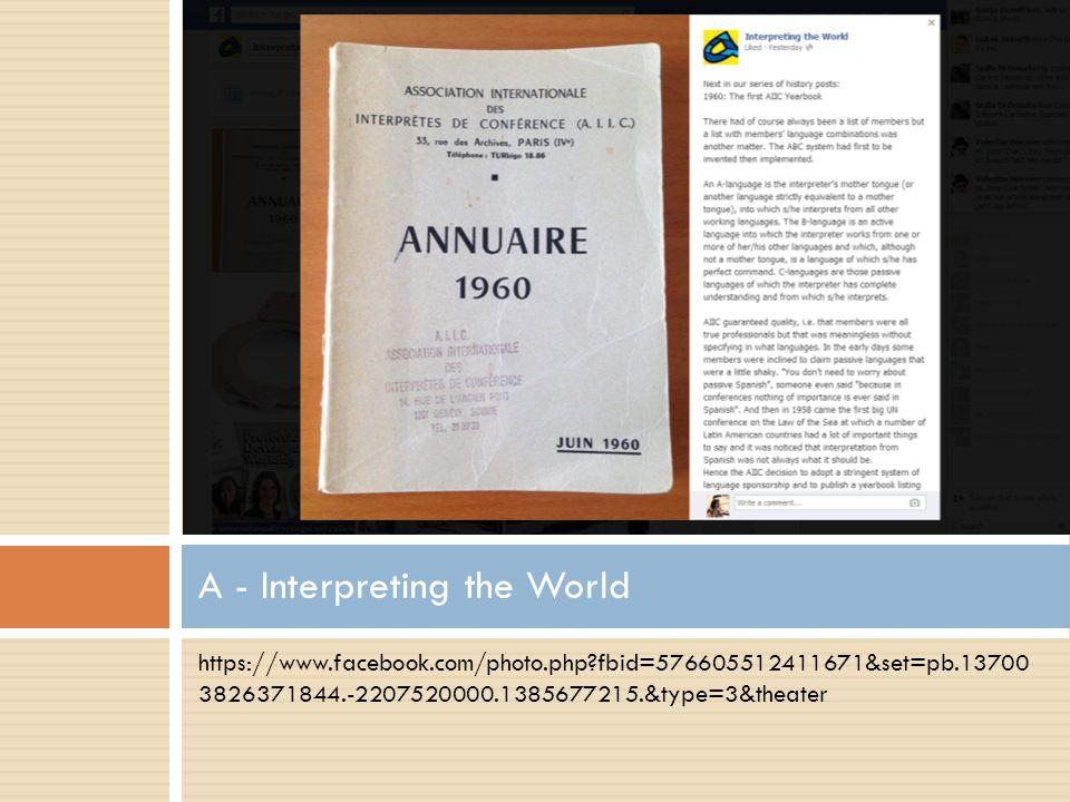 A - Interpreting the World