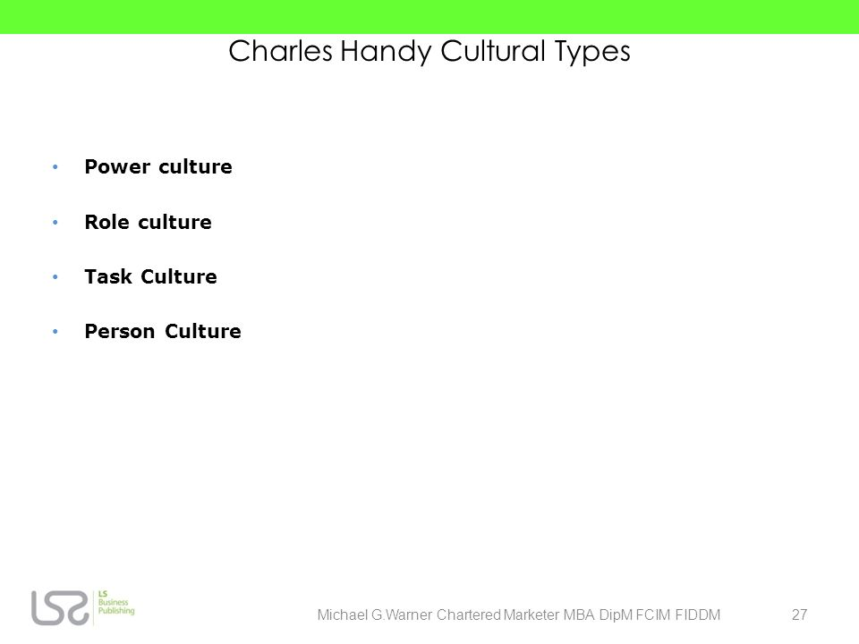 Charles Handy Cultural Types