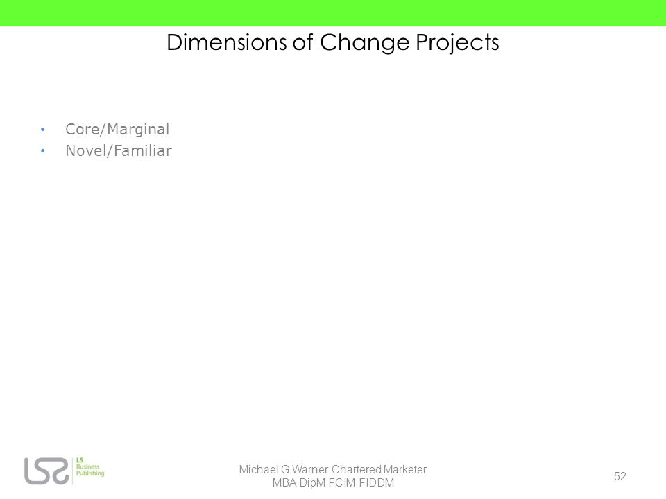 Dimensions of Change Projects