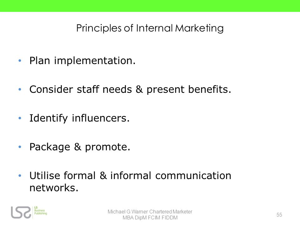Principles of Internal Marketing