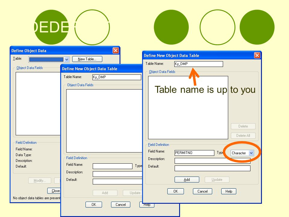 ADEDEFDATA Table name is up to you