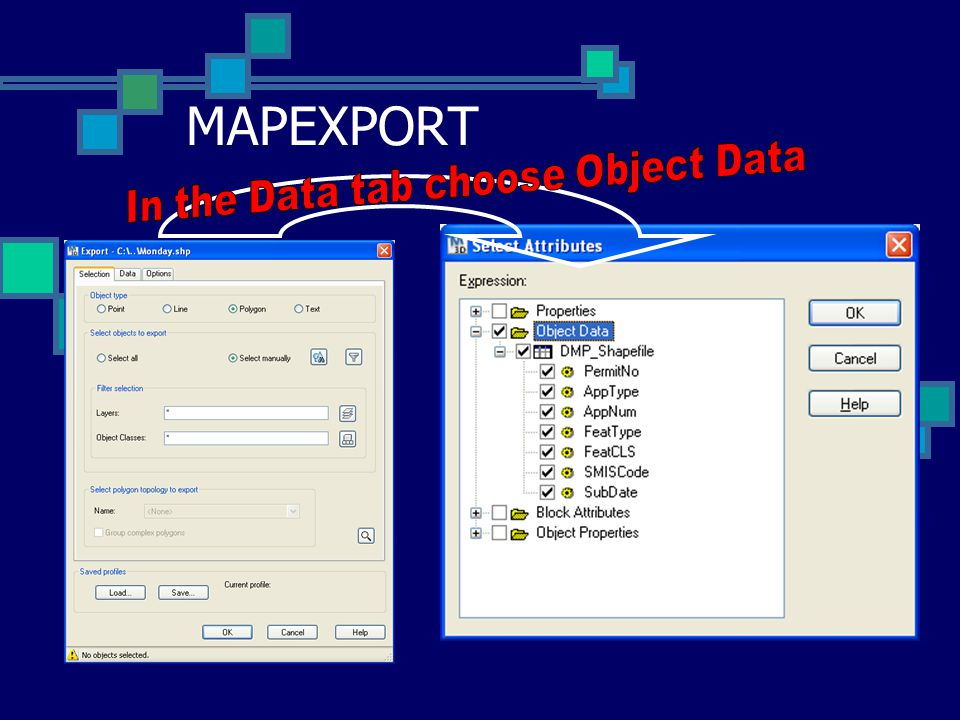 In the Data tab choose Object Data