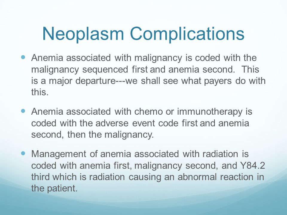 Neoplasm Complications