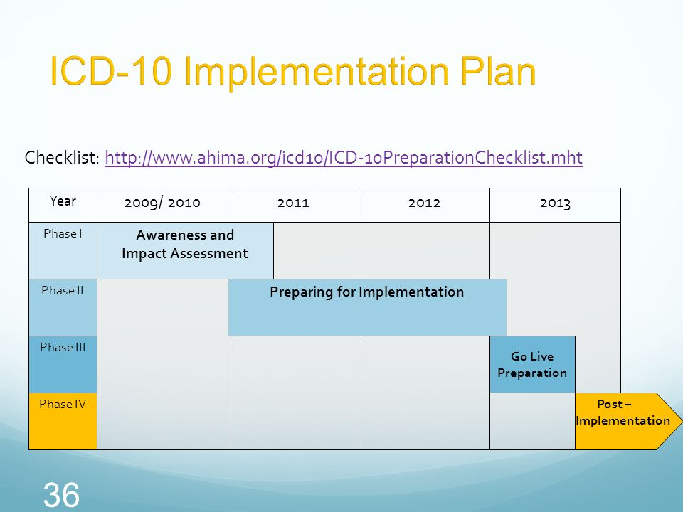 ICD-10 Implementation Plan