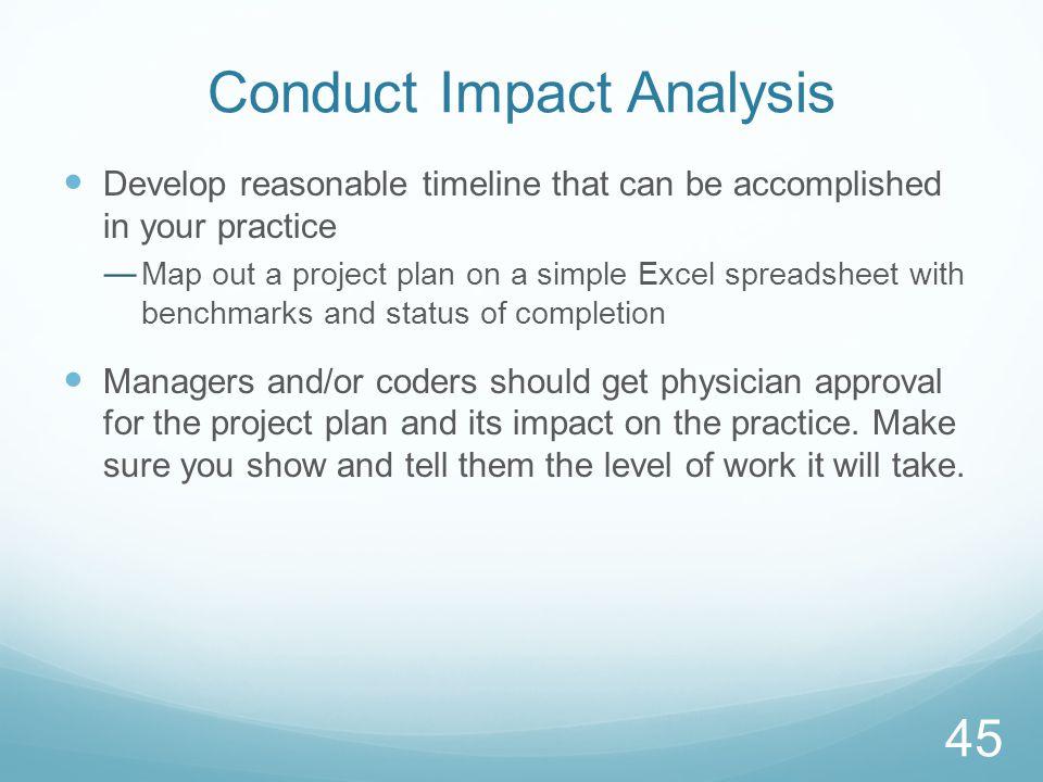 Conduct Impact Analysis
