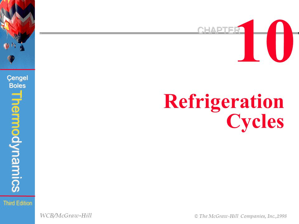 10 CHAPTER Refrigeration Cycles