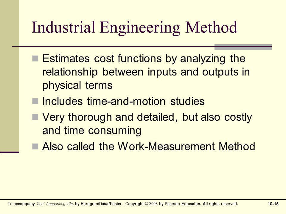 Industrial Engineering Method