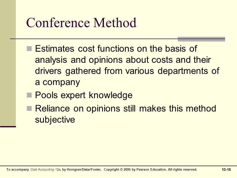 Conference Method