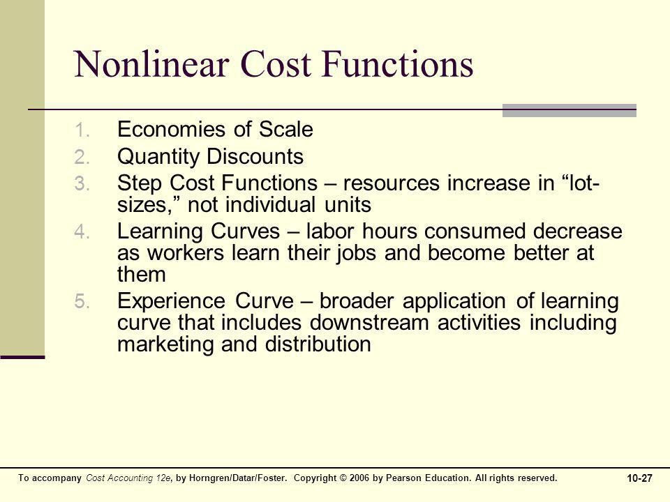 Nonlinear Cost Functions