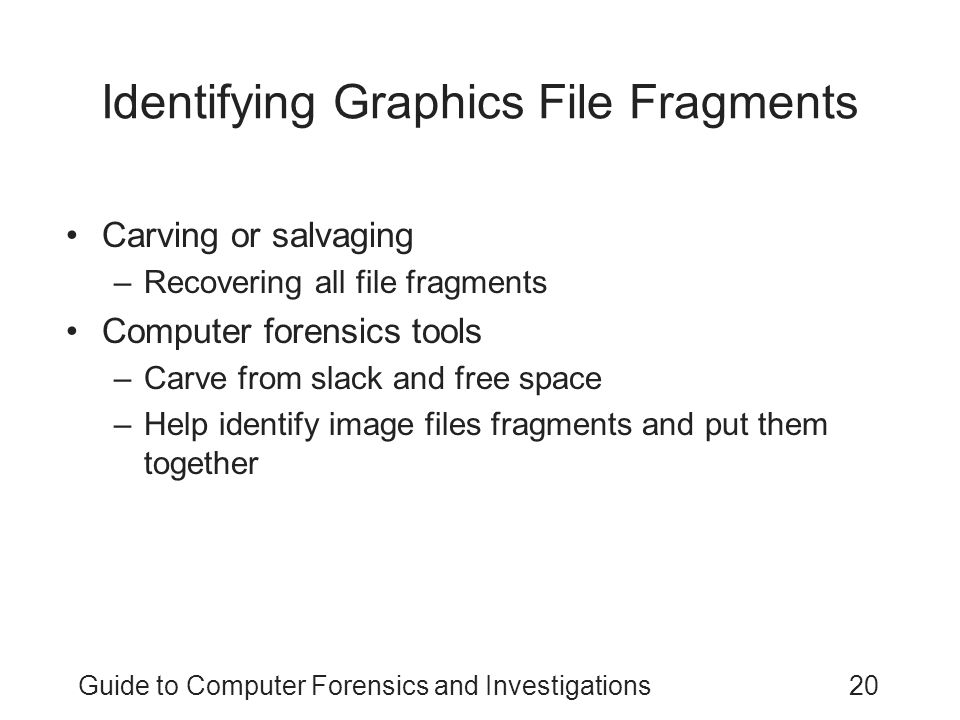 Identifying Graphics File Fragments
