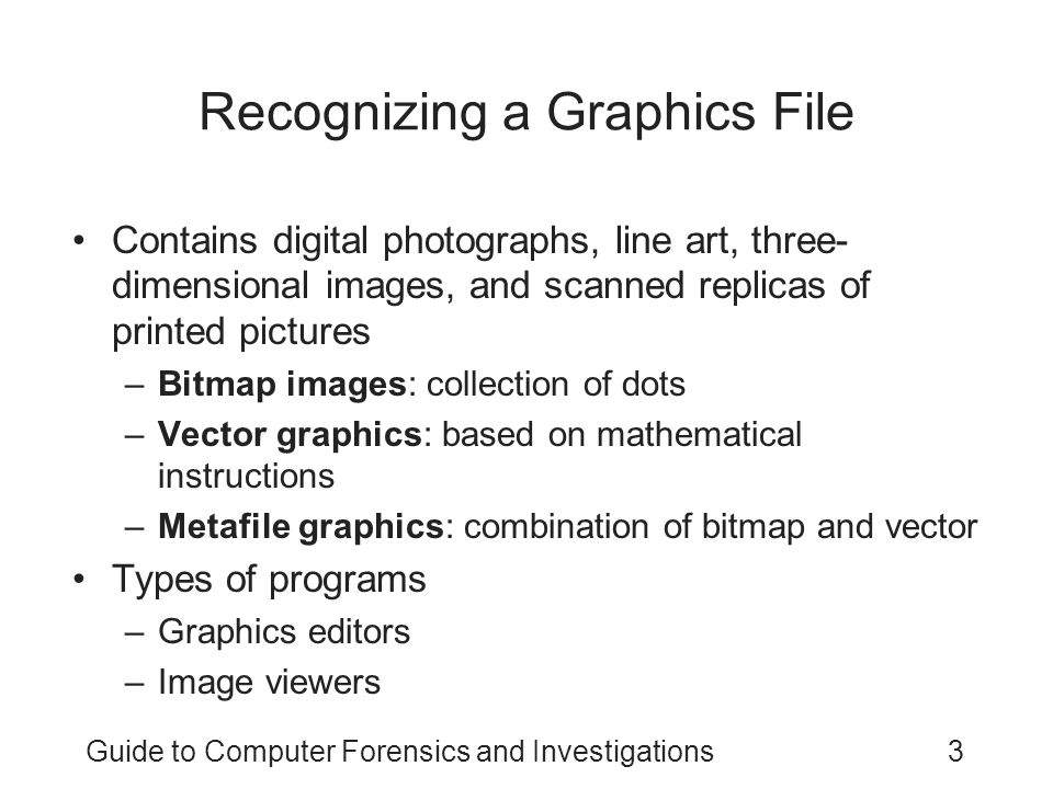 Recognizing a Graphics File