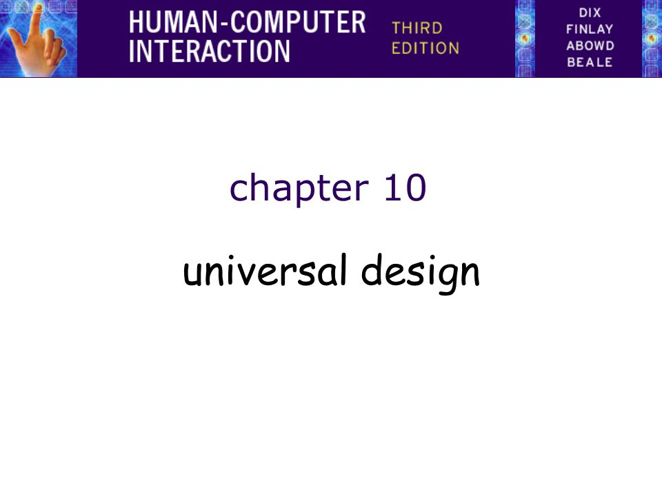 chapter 10 universal design