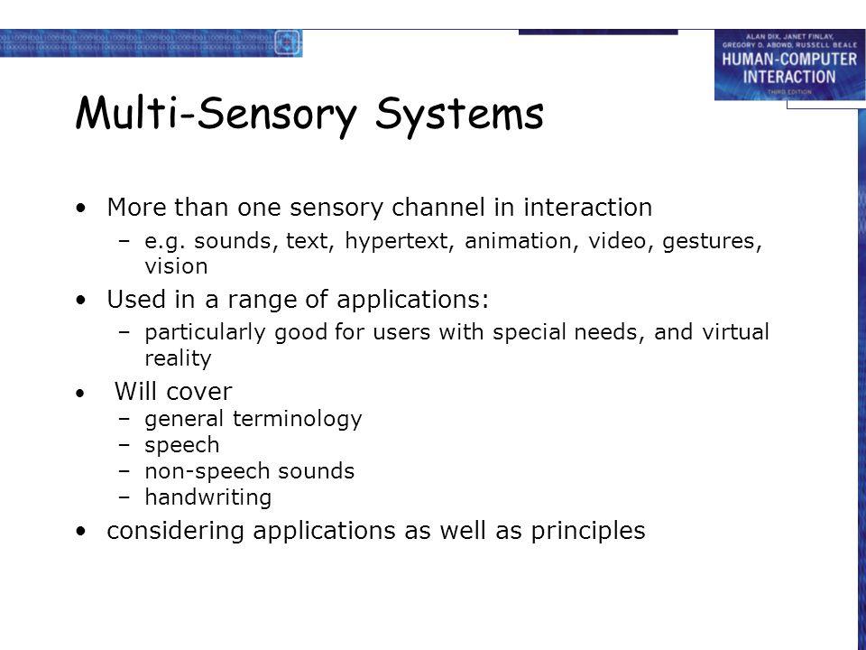 Multi-Sensory Systems