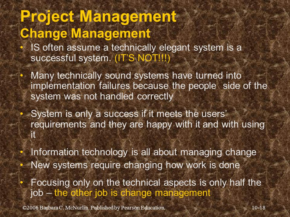 Project Management Change Management