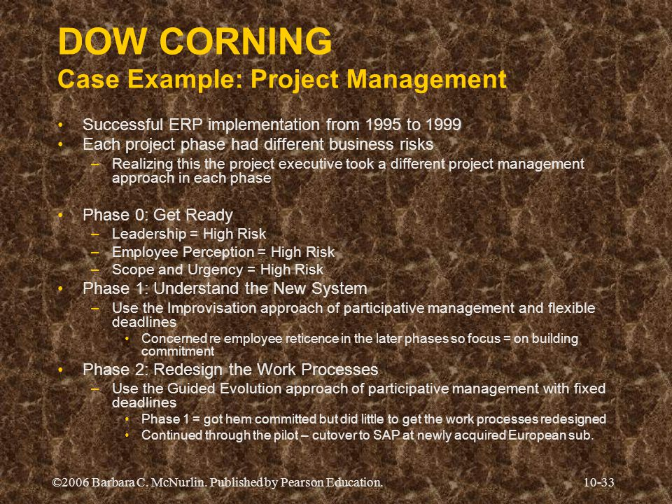DOW CORNING Case Example: Project Management