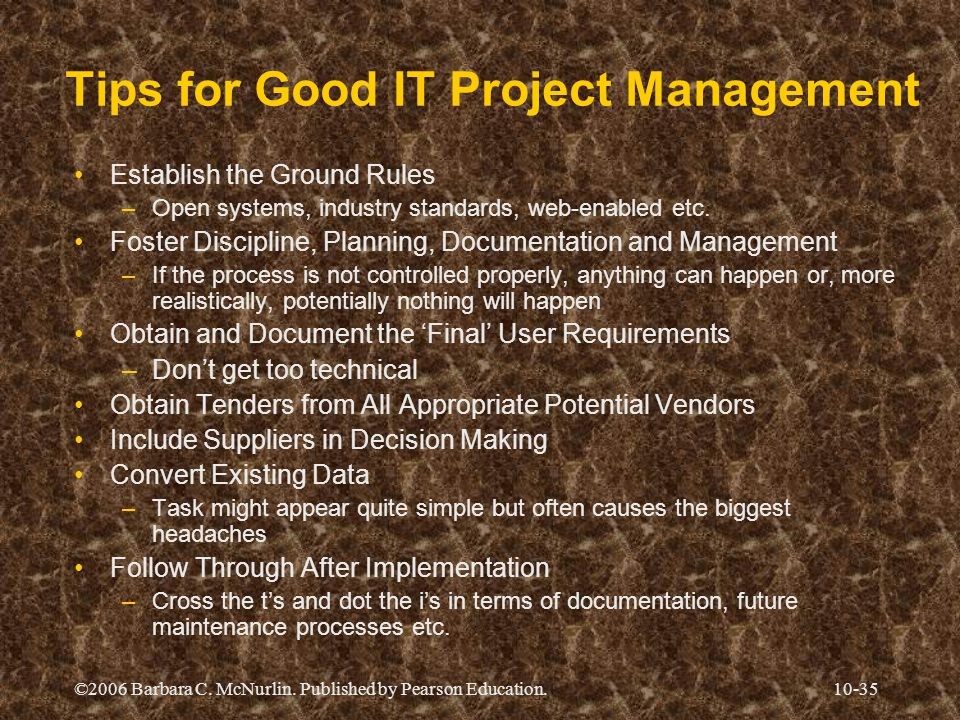 Tips for Good IT Project Management