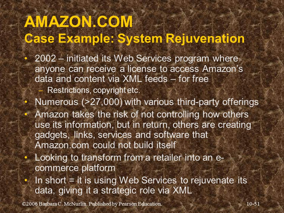 AMAZON.COM Case Example: System Rejuvenation
