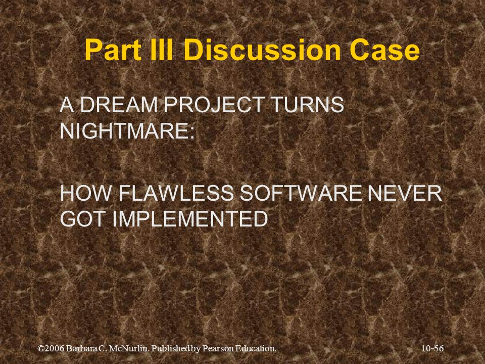 Part III Discussion Case