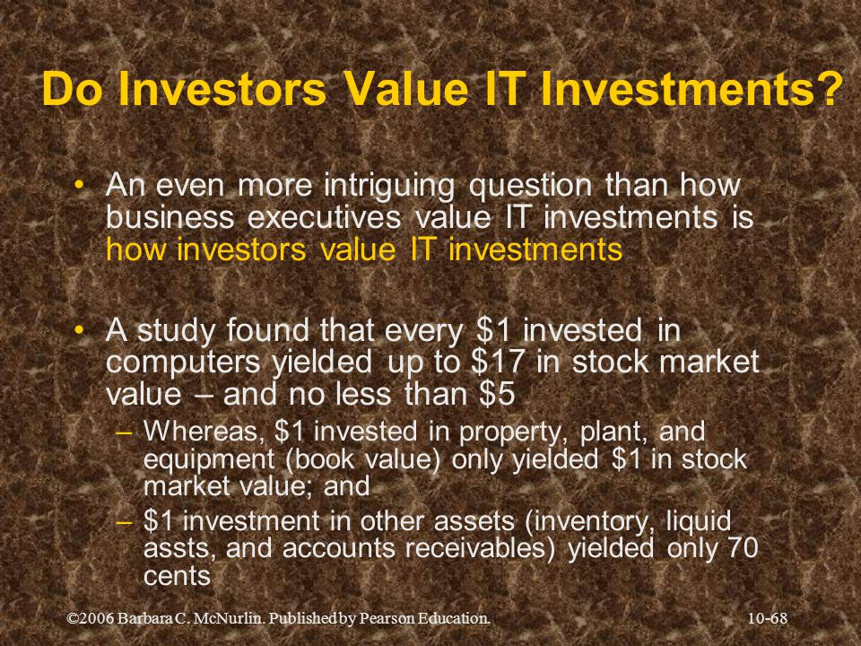 Do Investors Value IT Investments