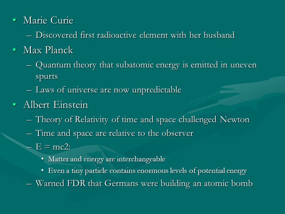 Marie Curie Max Planck Albert Einstein