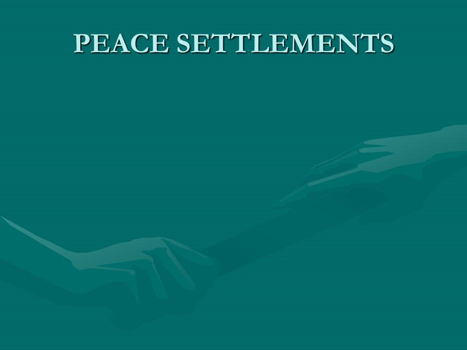 PEACE SETTLEMENTS