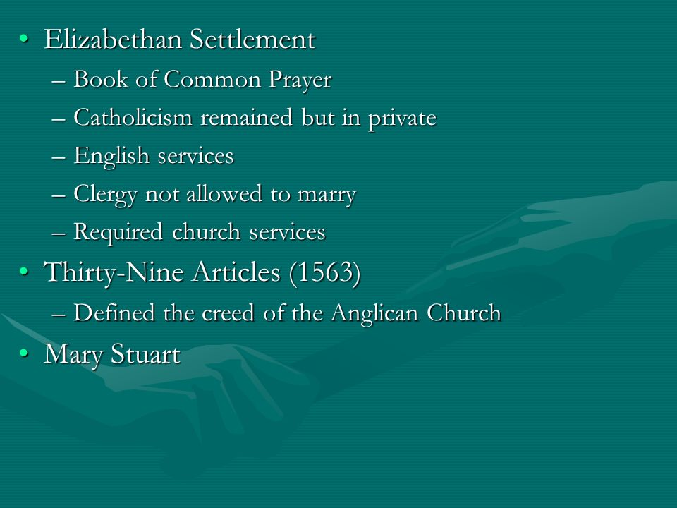 to what extent was the elizabethan Church and state in the reign of elizabeth i • extent of catholicism at the accession of elizabeth 1559 first elizabethan parliament- religious settlement.