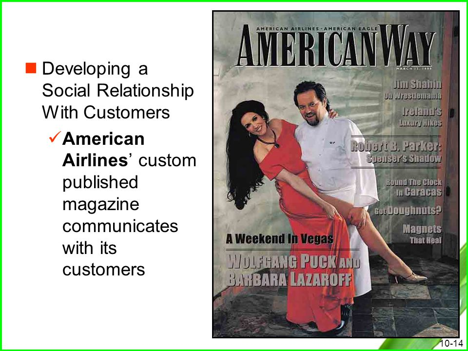 Developing a Social Relationship With Customers