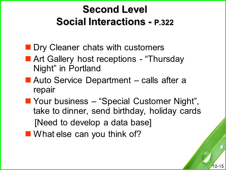 Second Level Social Interactions - P.322