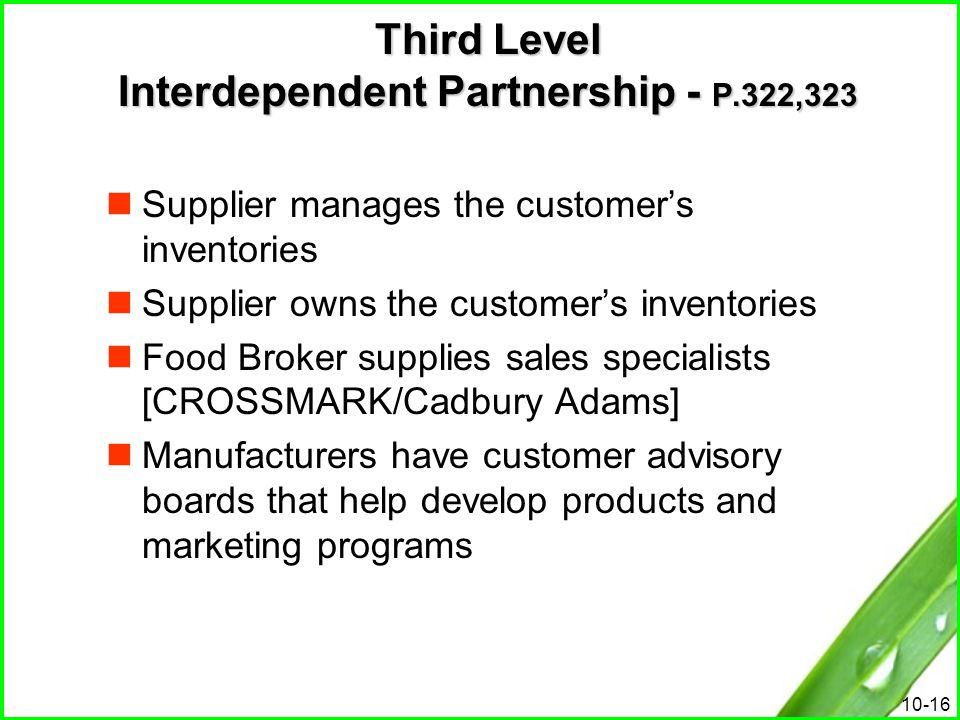Third Level Interdependent Partnership - P.322,323