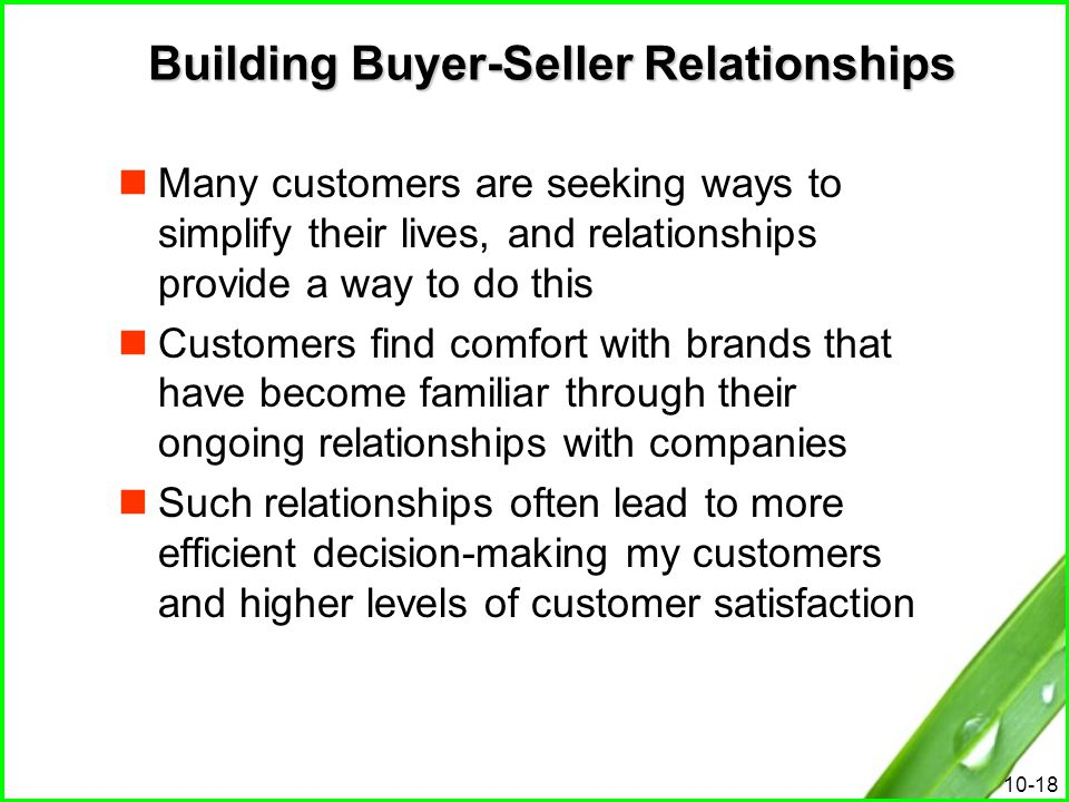 Building Buyer-Seller Relationships