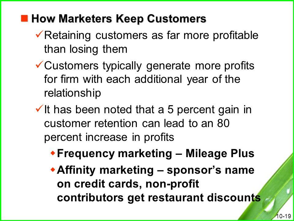 How Marketers Keep Customers