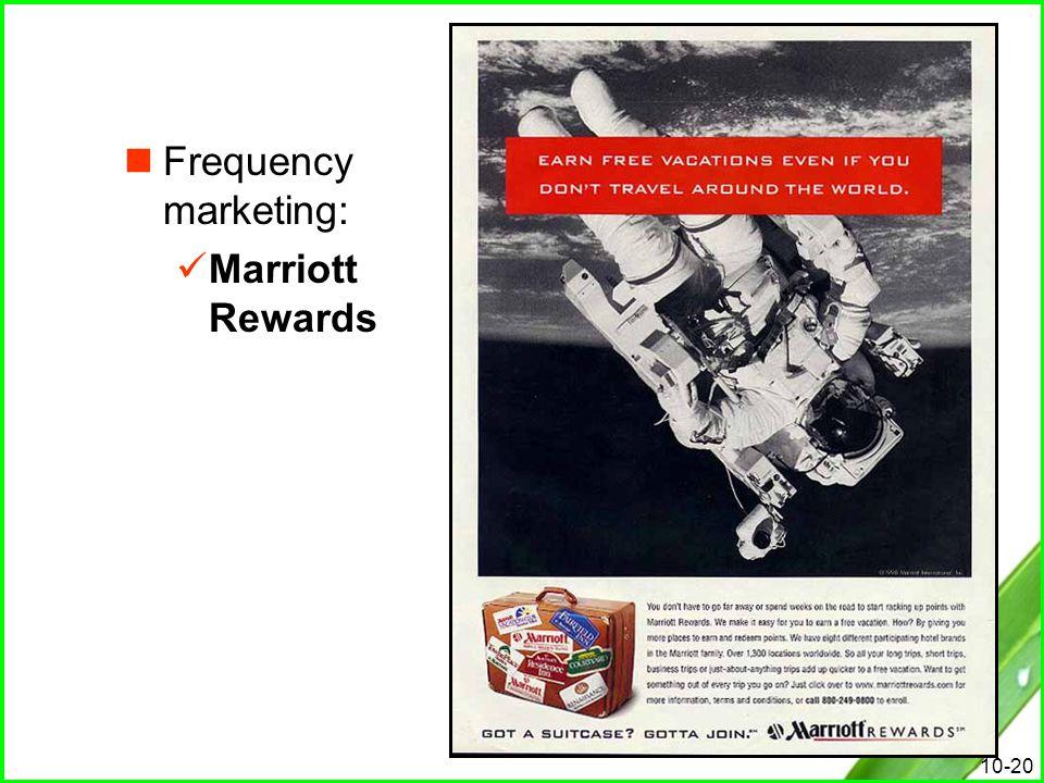 Frequency marketing: Marriott Rewards