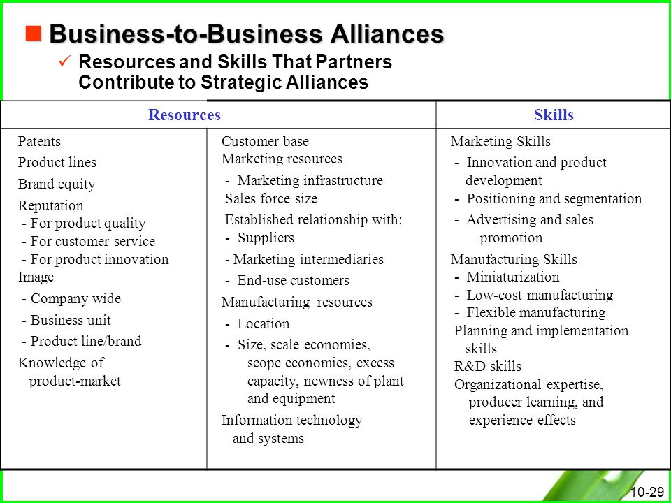 Business-to-Business Alliances