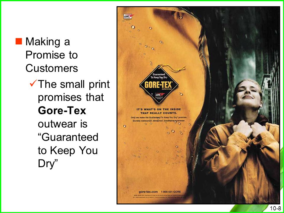 Making a Promise to Customers
