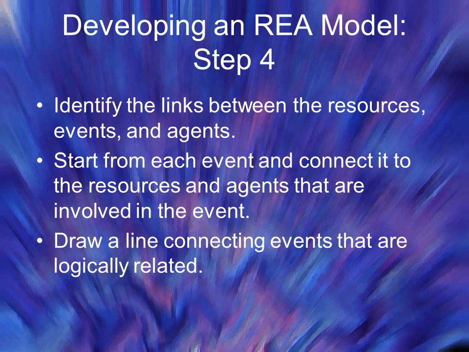 Developing an REA Model: Step 4