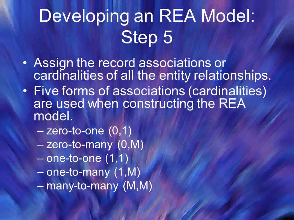 Developing an REA Model: Step 5