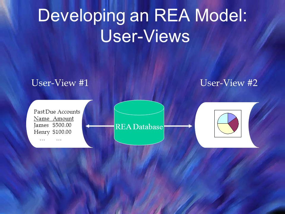 Developing an REA Model: User-Views