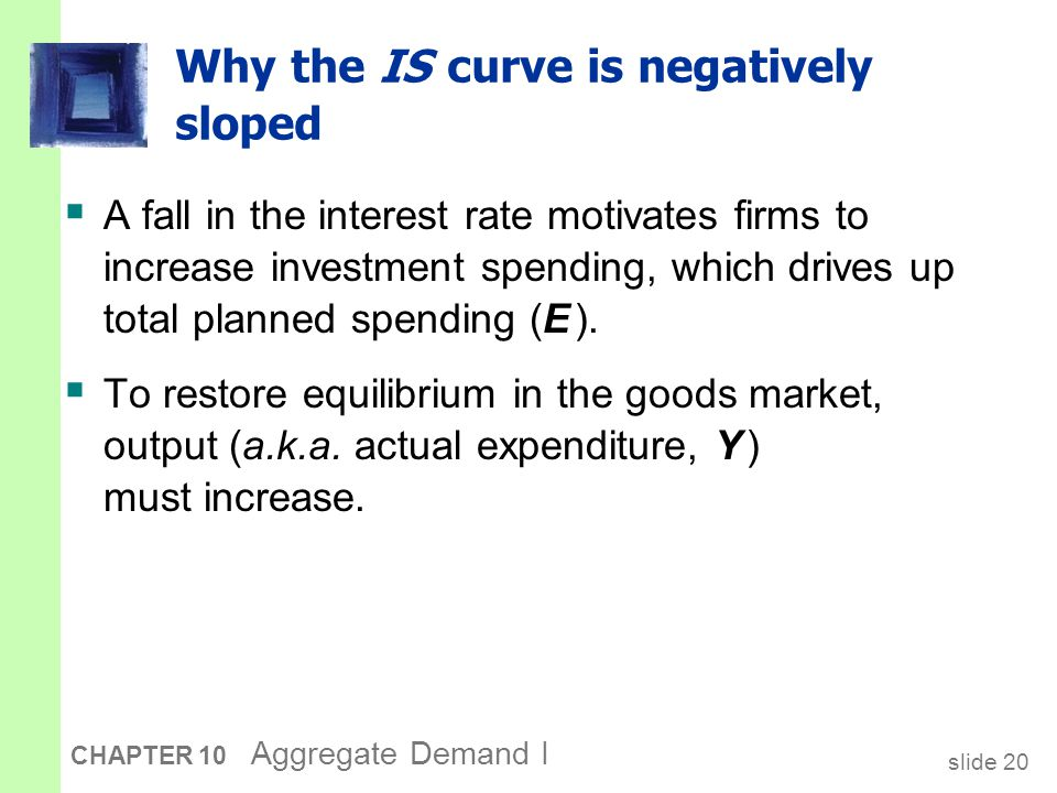 The IS curve and the loanable funds model