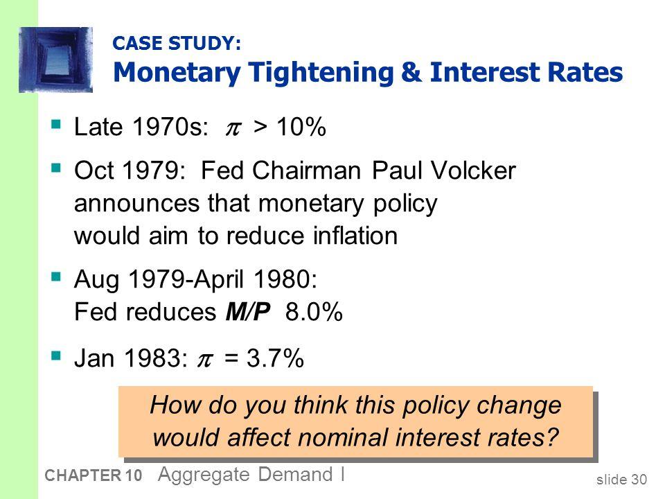Monetary Tightening & Rates, cont.