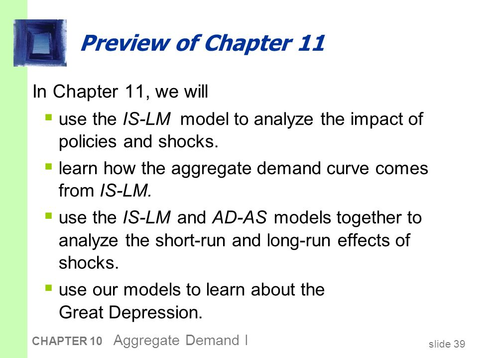 Chapter Summary basic model of income determination