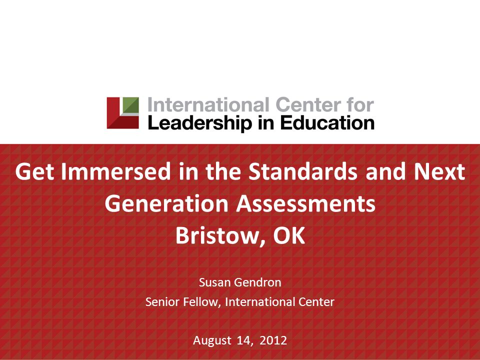 Susan Gendron Senior Fellow, International Center August 14, 2012
